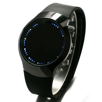 Creative Minimalist Silicone Normal Waterproof LED Touch Screen Watch Men Women Couple Watch Smart Electronics Casual Watches
