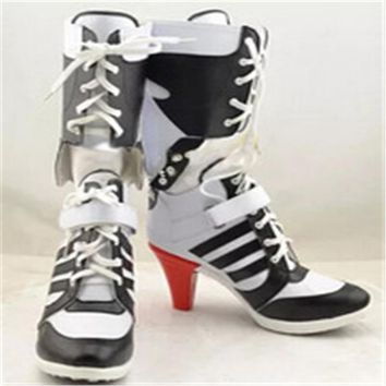 93aeba1a4eaf Harley quinn costume cosplay suicide squad suicide squad accessori donne  nere per harley scarpe harley quinn