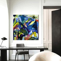 HDARTISAN Abstract Wall Art Canvas Improvisation Wassily Kandinsky Modern Home Decor Oil Painting For Living Room No Frame