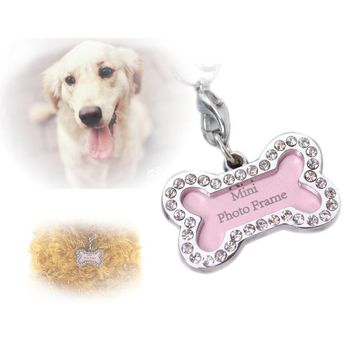 High Quality Pet Identifty Tag for Dog Cat Bone Style Pets Identity card Pet diamante accessories For Cute Charm Decoration Pet3