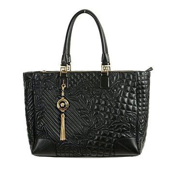 1a8805635ae8 Gianni Versace Leather Black Women s Handbag Shoulder Bag