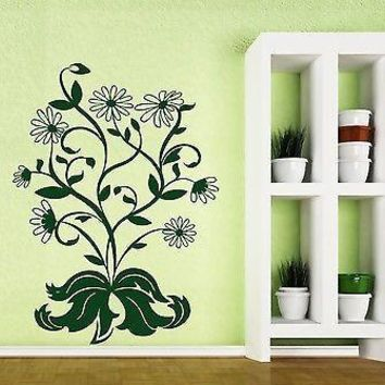 Wall Sticker Vinyl Decal Floral Decorative Ornament Bouquet of Daisies Unique Gift (n171)