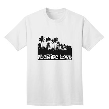 Florida Love - Palm Trees Cutout Design Adult T-Shirt by TooLoud
