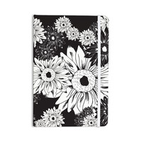 "Laura Escalante ""Midnight Florals"" Black Sunflower Everything Notebook"