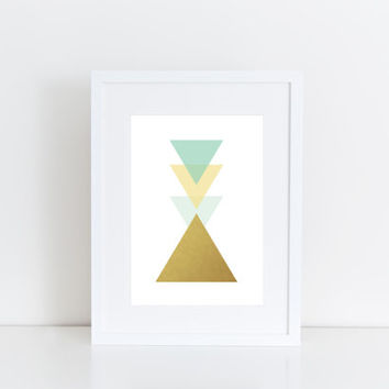 Triangle -  Geometric art, Printable art , Instant download