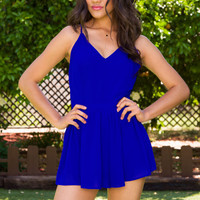 Pattie Romper - Blue