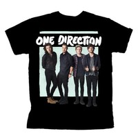 One Direction Green Box Tour Black T-Shirt - Small