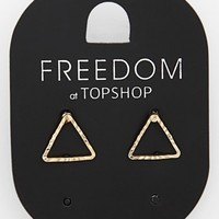 Topshop Triangle Stud Earrings