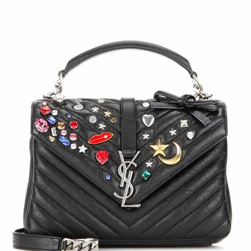 Medium Collège Monogram embellished leather shoulder bag