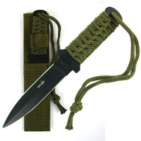 Whetstone  Stainless Steel Survival Knife w- Case  6.875 inc
