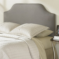 Queen-Size Dolphin Grey Bordeaux Upholstered Headboard