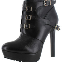 BCBG BCBGeneration Welsh Women's Combat Leather Ankle Boots