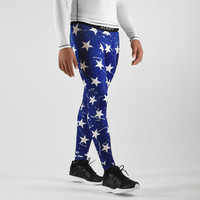 Navy Stars Tights for men