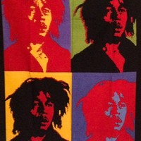 Bob Marley Poster Tapestry Warhol Style