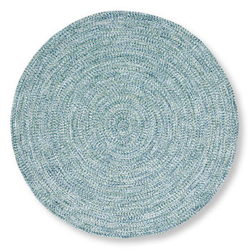 All-Weather Braided Rug, Round Concentric Pattern: Outdoor Rugs at L.L.Bean