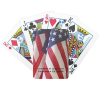 American Flags Personalized Playing Cards