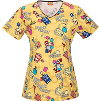Cat In The Hat Scrub Top For Women