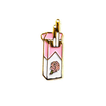 Pink Cigarettes Pin