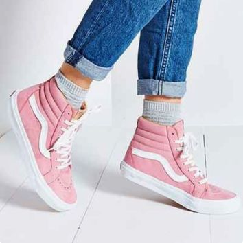 Vans Classic Canvas Leisure Shoes high-tops white line H-CSXY