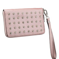 Rhinestone Wristlet With Phone Compartment