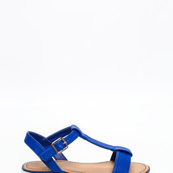 Hit The Road Faux Leather Sandals