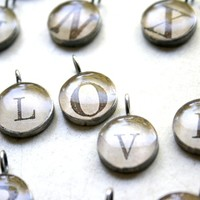 Wedzu: alphabet charms from found*ling