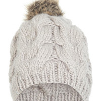 Faux Fur Pom Beanie - Hats & Scarves - Accessories