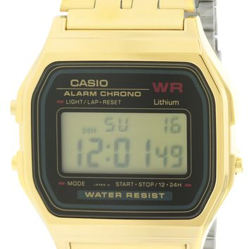 Casio Gold-Tone Alarm Chronograph Watch A159WGEA-1D