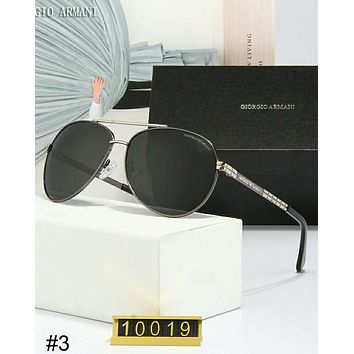 Giorgio Armani trend male big box driver driving retro polarized sunglasses #3