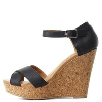Crisscross Platform Wedge Sandals by Charlotte Russe