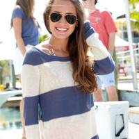 Womens Linen Sweaters: Sea Stripe Sweater for Women - Vineyard Vines