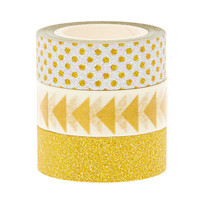 3 Pack Silver & Gold Decorative Tape