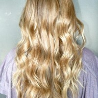 Beautiful Top Quality Clip in Hair Extension about 22inches Curly 100%Human Hair Full Head Set : wigsbuy.com
