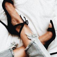 Strappy Women Fashion Peep Toe Sandals High Heels Shoes