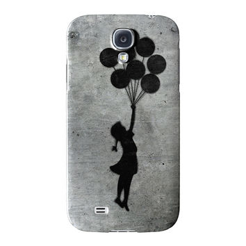 Banksy Balloon Girl Full Wrap High Quality 3D Printed Case for Samsung Galaxy S4 by Banksy