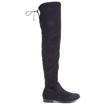 CREYONIG Chinese Laundry Rainey - Black Suede Over-the-knee Boot
