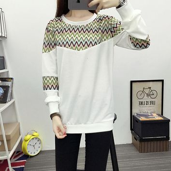 6119# Pop Pattern Cotton Maternity Nursing Shirts Spring Autumn Breastfeeding Tops Clothes for Pregnant Women Pregnancy T-shirts