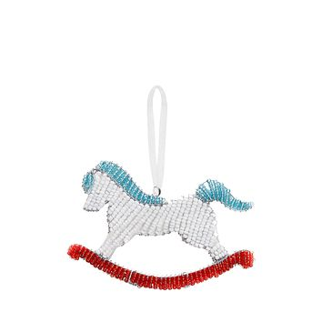 Beaded Rocking Horse Ornament