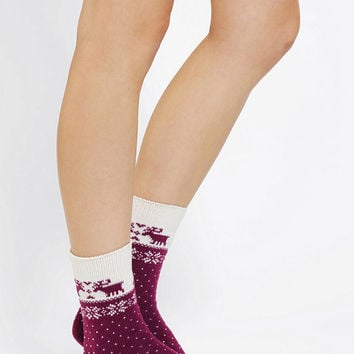 Nordic Reindeer Boot Sock - Urban Outfitters