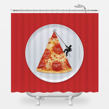 Pizza Topping Shower Curtain