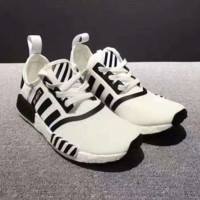 Adidas NMD x Off-White Black/White Fashion Trending Running Sports