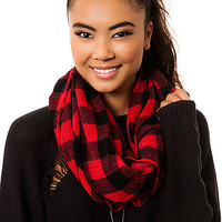 The Lumberjack Scarf in Red and Black