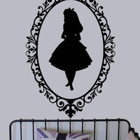 Alice in Wonderland Shadow vinyl decal - UK Seller