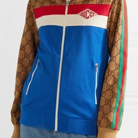 GUCCI Printed tech-jersey track jacket