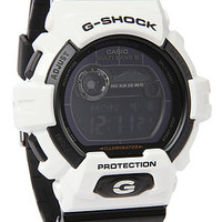 G-Shock Watch 8900 in White & Black