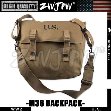 WWII WW2 US Army M1936 Haversack M36 Musette Field Military Hunting Hiking Climbing Camping BackPack Bag (width strap)US/107103