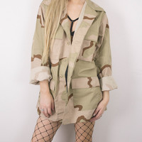 Vintage Desert Army Military Camo Jacket