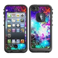Skins Kit for Lifeproof iPhone 5 Case (skins/decals only) - Galaxy Nebula Colorful Fox Galaxy Stars