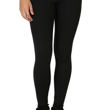 Yoga Pant with Gold Foil Cheetah Fold Over Waistband and Legging Fit