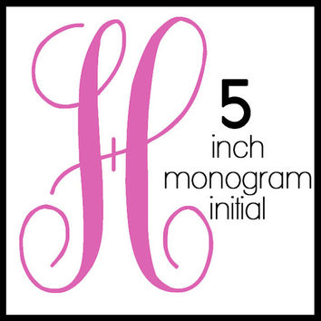 5-inch Tall Initial Monogram Decal